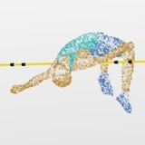 Athlétisme, en hauteur, concurrence illustration stock