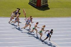 Athlétisme européen 100 mètres Images libres de droits