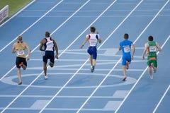Athlétisme européen 100 m Photo libre de droits