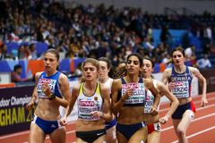 Athlétisme - femme 1500m Images libres de droits