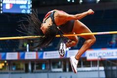 Athlétisme - femmes de pentathlon en hauteur - NAFISSATOU THIAM Images stock