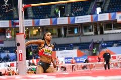 Athlétisme - femmes de pentathlon en hauteur - NAFISSATOU THIAM Photos libres de droits