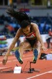 Athlétisme - femmes de pentathlon en hauteur - NAFISSATOU THIAM Images libres de droits