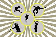 Athlétisme grunge illustration libre de droits