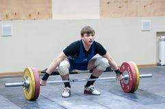 Athlétisme lourd, haltérophile. Photos libres de droits