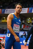 Athlétisme - obstacles TRAJKOVIC Milan des hommes 60m Photos stock