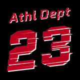 Athl dept design Royalty Free Stock Photography