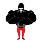 大猩猩爱好健美者 与大肌肉的强的黑猴子 Athle 免版税库存图片