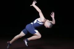 Athlet auf Anfang Lizenzfreie Stockfotos