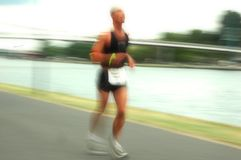 Athlet in Frankfurt Ironman 2008 Lizenzfreies Stockbild