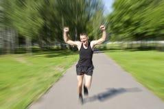 Athlet lief zum Ende Lizenzfreie Stockbilder