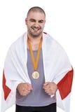 Athlet mit olympisches Goldmedaille Lizenzfreie Stockbilder