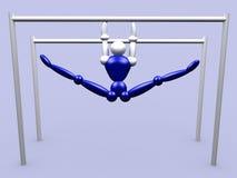 Athlet nas barras paralelas vol 2 ilustração stock