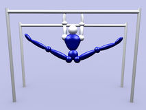 Athlet On Parallel Bars vol 2. 3d Athlet On Parallel Bars stock illustration