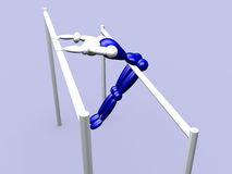 Athlet on Parallel Bars vol 3. 3d Athlet On Parallel Bars royalty free illustration
