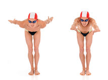 Athlet, Schwimmer Stockbild