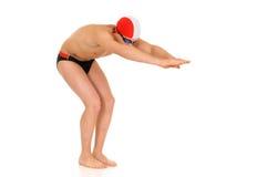 Athlet, Schwimmer Stockfoto