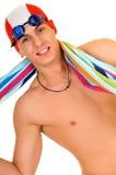 Athlet, Schwimmertuch Stockfoto