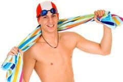 Athlet, Schwimmertuch Lizenzfreie Stockbilder