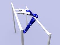 Athlet sur les bars parallèles vol. 3 illustration libre de droits
