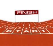 Athlet Track oder Betrieb Lizenzfreie Stockfotografie