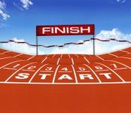 Athlet Track oder Betrieb Lizenzfreie Stockfotos