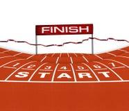 Athlet Track oder laufende Illustration Lizenzfreies Stockfoto
