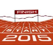 Athlet Track oder laufende Illustration Lizenzfreies Stockbild