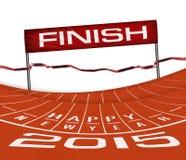 Athlet Track oder laufende Illustration Lizenzfreie Stockfotos