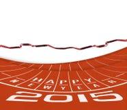 Athlet Track oder laufende Illustration Stockfotos
