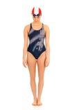 Athlet, weiblicher Schwimmer Stockbild