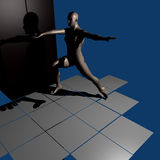 Athlete. A 3d illustration on the athlete concept Stock Photography