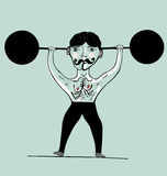 Athlete. Image of an athlete who is engaged in weightlifting royalty free illustration