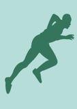 Athlete. A illustration of a man running stock illustration