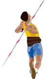 Athlete. An athlete throwing a javelin in a sporting event Stock Photography