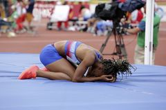 Free Athlete After Unsuccessful Attempt Stock Images - 135781704