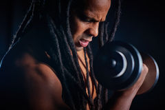 Athlete with barbell Royalty Free Stock Photo