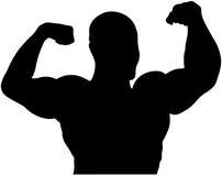 Athlete bodybuilder back double biceps Royalty Free Stock Photography