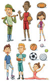 Athlete Collection Stock Images