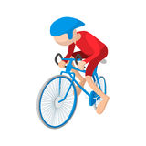 Athlete cyclist cartoon icon Stock Photography