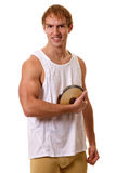 Athlete With Discus Stock Photo
