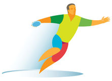 Athlete is a discus thrower. An athlete who is a discus thrower is trying to compete Stock Images