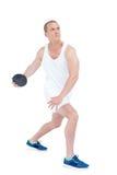 Athlete discus throwing Royalty Free Stock Image