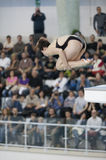 Athlete during diving championships Royalty Free Stock Photography