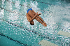 Athlete during diving championships Royalty Free Stock Images