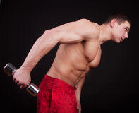 Athlete doing exercise Stock Photo