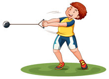 Athlete doing hammer throw. Illustration Royalty Free Stock Image