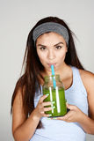 Athlete Drinking Shake Royalty Free Stock Photo
