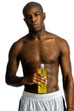 Athlete With Energy Drink Royalty Free Stock Images