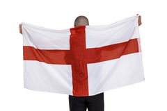 Athlete with england national flag Royalty Free Stock Images